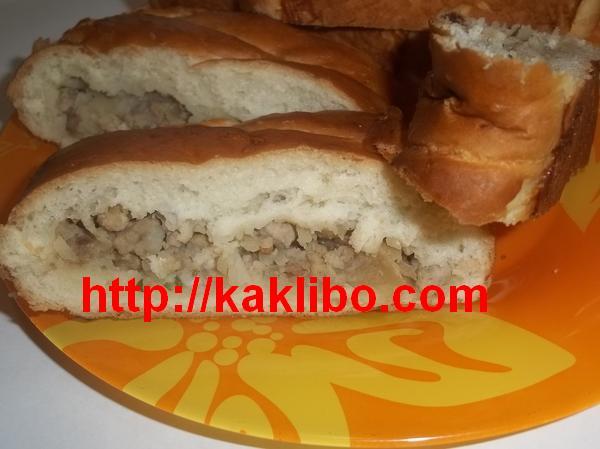 Пирог с мясом и луком 2