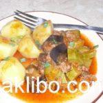Баклажаны тушеные с овощами рецепт с фото