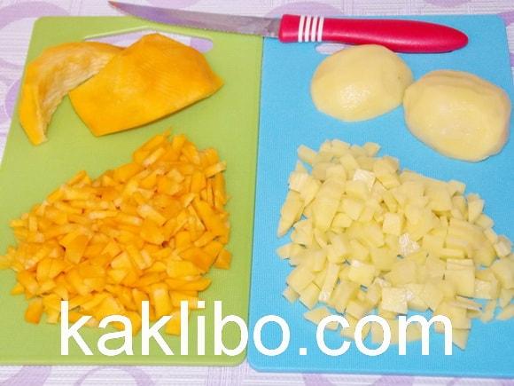 Овощи нарезаны и готовы для использования
